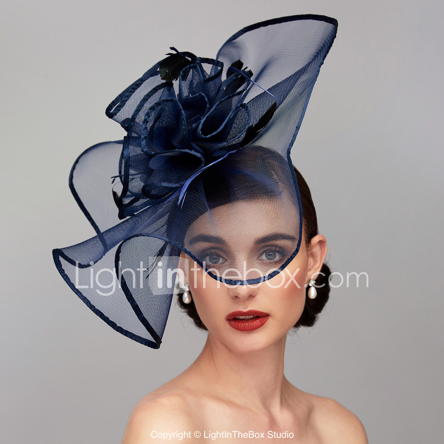 bd1d3703 Feather / Net Kentucky Derby Hat / Fascinators / Headpiece with Feather /  Floral / Flower 1pc Wedding / Special Occasion Headpiece #06894536