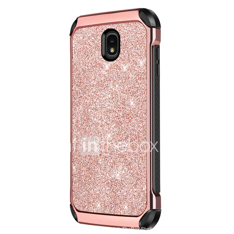 57d59816e5e BENTOBEN Funda Para Samsung Galaxy J3 Emerge Antigolpes / Cromado /  Brillante Funda Trasera Un Color