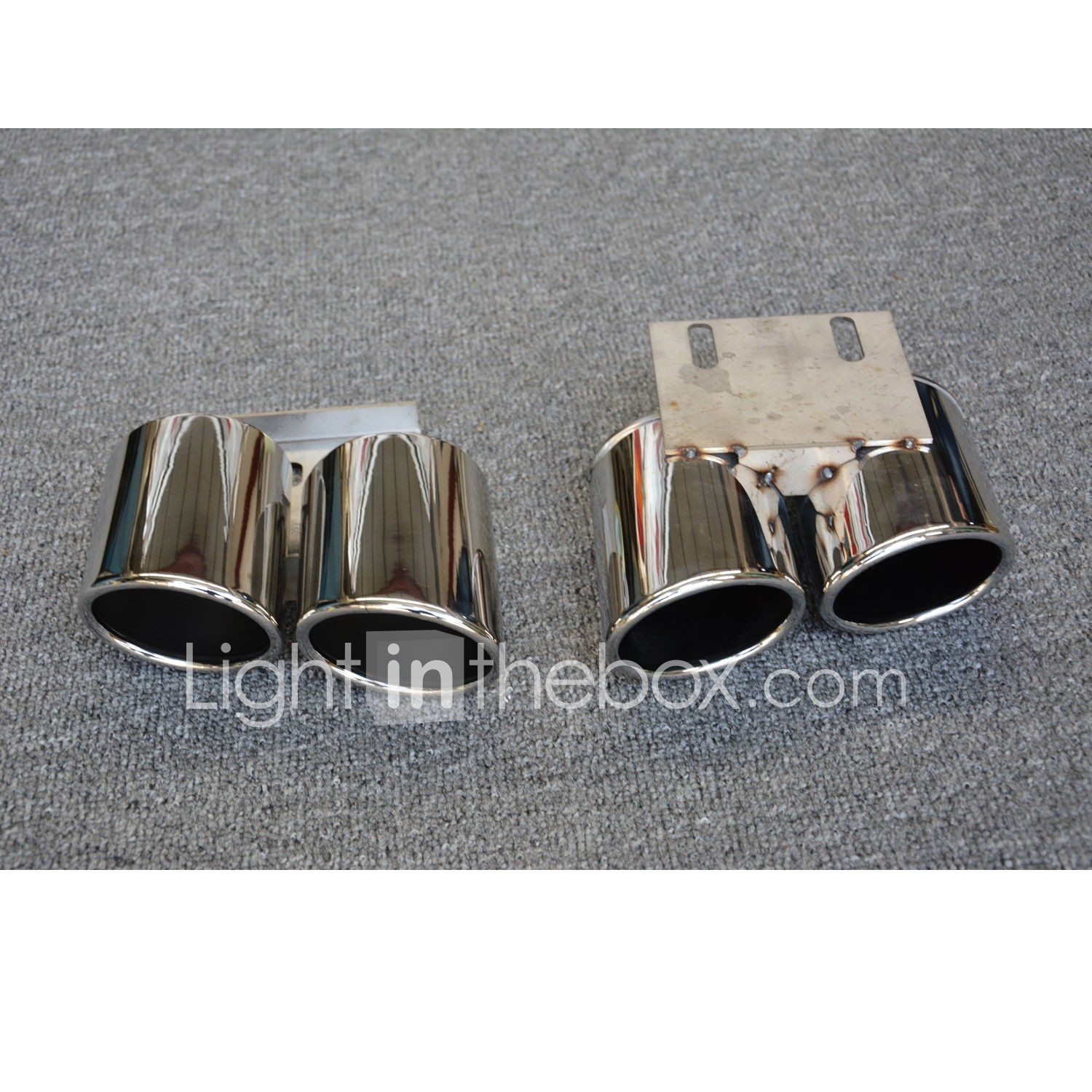 2pcs Car Exhaust Tailpipe Tips Cool Stainless steel Exhaust Mufflers For  Audi A3 2017