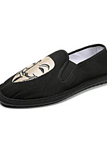 Shoes Men's Loafers & Slip-Ons Comfort Light Soles Spring Fall Leather Casual Outdoor Magic Tape Flat Heel Black (Color : Black Size : 47)