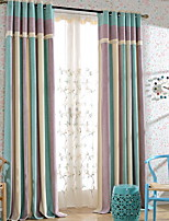 Cheap Sheer Curtains Sheer Curtains Shades Living Room Contemporary Cotton  / Polyester Embroidery