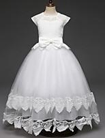 e3265949ca tanie Sukienki komunijne-Księżniczka Długa Sukienka dla dziewczynki z  kwiatami - Koronka   Tiul Paski