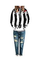 billiga Huvtröjor och sweatshirts till dam-Dam Aktiv Byxor - Geometrisk Vit 450f6119bd21b