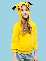 Недорогие Пижамы кигуруми-Детские Толстовка Пижамы кигуруми Пика Пика  Цельные пижамы Флис Желтый Косплей Для 4b09d1656ac33