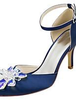 levne Dámské svatební střevíce-Dámské Satén Jaro  amp  podzim Sladký Svatební  obuv Chůze Vysoký 43424235af