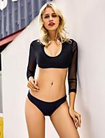 70d2b9d540 olcso Bikinik és fürdőruhák-Női Alap Fehér Fekete Pánt nélküli Merész  Tankini Fürdőruha - Színes Új