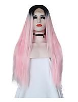 39b456aa863 billige Parykker & hair extensions-Syntetisk Lace Front Parykker Silke  Ret Stil Mellemdel Blonde