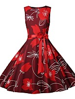 b626de5b089b cheap Vintage Dresses-Women's Vintage Elegant A Line Sheath Swing Dress