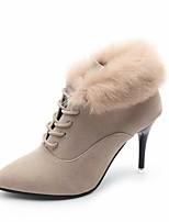 fbf0909dc0d abordables Botas de Mujer-Mujer Ante Otoño Botas Tacón Stiletto Botines    Hasta el Tobillo