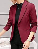 1ea3f26e2 levne Dámské kabáty a bundy-Dámské Blejzr, Jednobarevné Klasické klopy  Polyester / Spandex Fialová