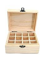 caafd2c8a abordables Almacenamiento y Organización-Almacenamiento Organización  Organizador cosmético del maquillaje De madera Forma rectangular Tapa