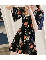 c6115552a5bc billiga Damklänningar-kvinnans knälängd en linje klänning svart m l xl xxl