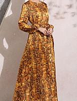f049dde6351da9 voordelige Maxi-jurken-Dames Slank Wijd uitlopend Jurk Maxi