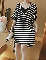 9e60c890471a Χαμηλού Κόστους Γυναικεία Φορέματα-Γυναικεία Βασικό Σε γραμμή Α Φόρεμα -  Ριγέ