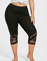 19ba5c5aff02 billige Nederdele og bukser til damer-Dame Sporty   Basale   Plusstørrelse  Plusstørrelser Leggins