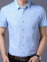 0a066c50 billige Herreskjorter-Herre - Geometrisk Skjorte Blå L