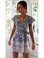 59462c092fca Χαμηλού Κόστους Γυναικεία Φορέματα-Γυναικεία Θήκη Φόρεμα - Φλοράλ, Στάμπα  Πάνω από το Γόνατο