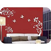 壁のステッカー - 蝶の花(0565 - gz033)