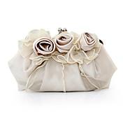 女性 バッグ サテン イブニングバッグ フラワー のために イベント/パーティー パープル レッド ピンク キャメル クリスタル