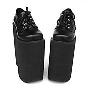 Zapatos Punk Lolita Tacón alto Zapatos Un Color 22 CM Para Cuero Sintético/Cuero de Poliuretano