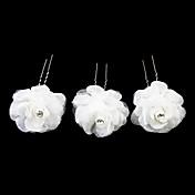 素敵なサテンの花の女の子のヘアピン/ヘッドピース(3セット)エレガントなスタイル