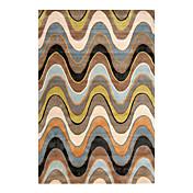 acrílico alfombra de gancho con el patrón a cuadros 5 '* 8'