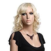 キャップレス、高品質合成培地の長さ金髪のファッション波状のかつら