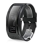 10文字表示可 ブラックベルト LED腕時計