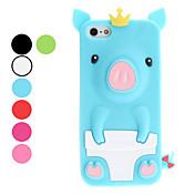 3d diseño lindo del cerdo estuche blando patrón para el iphone 5/5s (colores surtidos)