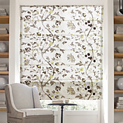pinturas florales chino jacquard cortina romana