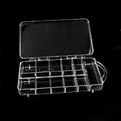 Portable Claro herramientas de plástico caja de la extremidad de almacenamiento caja de la caja