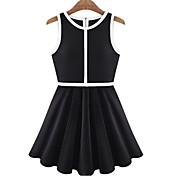 MFLノースリーブスペルカラーベストドレス
