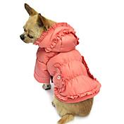 Perro Abrigos Saco y Capucha Ropa para Perro Un Color Rosa Algodón Disfraz Para mascotas