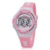 Niño Reloj Deportivo Reloj de Pulsera Reloj de Moda Cuarzo LCD Silicona Banda Casual Negro Blanco Rosa