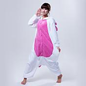 Pijama kigurumi Unicorn Pijama Mono Pijamas Disfraz Vellón de Coral Rosado Azul Piscina Cosplay por Adulto Ropa de Noche de los Animales