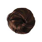Alta calidad a corto Bollo Hairpiece sintético 3 colores disponibles