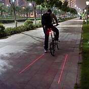 Cykellys Baglygte til cykel LED Laser Cykling Vanntett Slag Kant Varsling Lumen BatteriCamping/Vandring/Grotte Udforskning Dagligdags