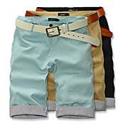 HPXZ Loose Fit Casual media larga del algodón de los pantalones cortos 6425