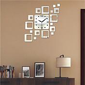 """19.75 """"h estilo moderno ps bloque espejo reloj de pared reloj de pared relojes decoración"""