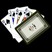 ポーカー用のカードを再生するパーソナライズされたギフトグレー花柄