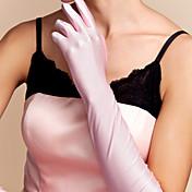 spandex codo longitud guante guantes de novia estilo femenino clásico