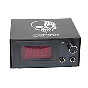 LCD Máquina de tatuaje Fuente de alimentación digital potencia profesional Clip Cord Interruptor de pie Enchufe