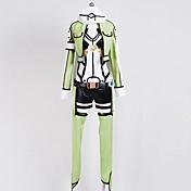 Inspirado por Sword Art Online Shino Animé Disfraces de cosplay Trajes Cosplay Manga Larga Chaqueta Leotardo/Pijama Mono Tocados Guantes