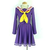 Inspirado por No Juego No Vida Shiro Animé Disfraces de cosplay Trajes Cosplay Uniformes Escolares Un Color Manga Larga Pañuelo Chaqueta