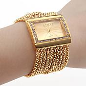 Mujer Reloj Pulsera Reloj de Moda Japonés Cuarzo Diamantes Sintéticos La imitación de diamante Cobre Banda Lujo Destello Elegant Dorado