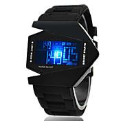 Hombre Reloj Deportivo Reloj de Pulsera Reloj digital Digital Despertador Calendario Cronógrafo LED LCD Silicona Banda Negro Blanco Azul
