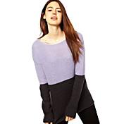 suéter de manga larga mohair de las mujeres la mode