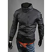 la moda de los hombres Charels todo igualado chaqueta de la capa delgada