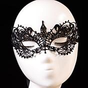 コスプレ マスク 男女兼用 ハロウィーン イベント/ホリデー ハロウィーンコスチューム ブラック ゼブラプリント レース