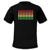 Camisetas LED  Luces LED Activadas Por Sonido Textil Bandera Nacional 2 Baterías AAA